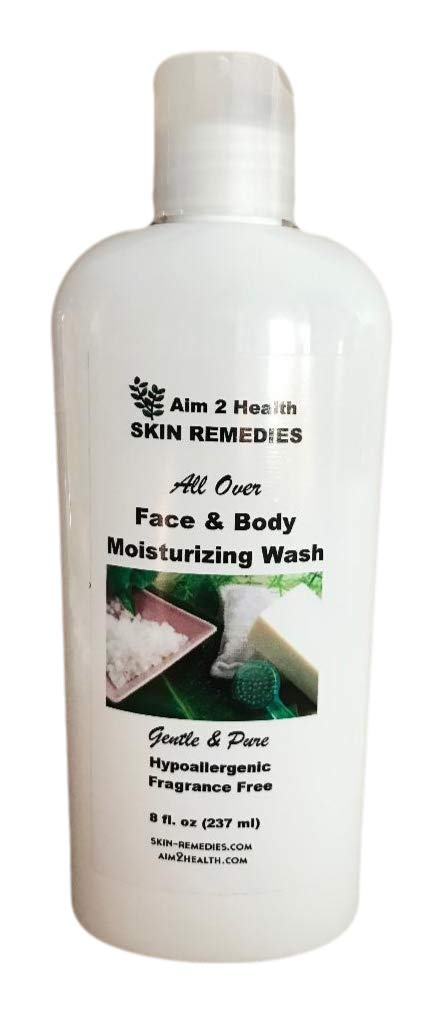 All Over Face & Body Wash Moisturizing With 5% Urea 8 oz Natural Soothing Relief For Dry Cracked Flaky Skin