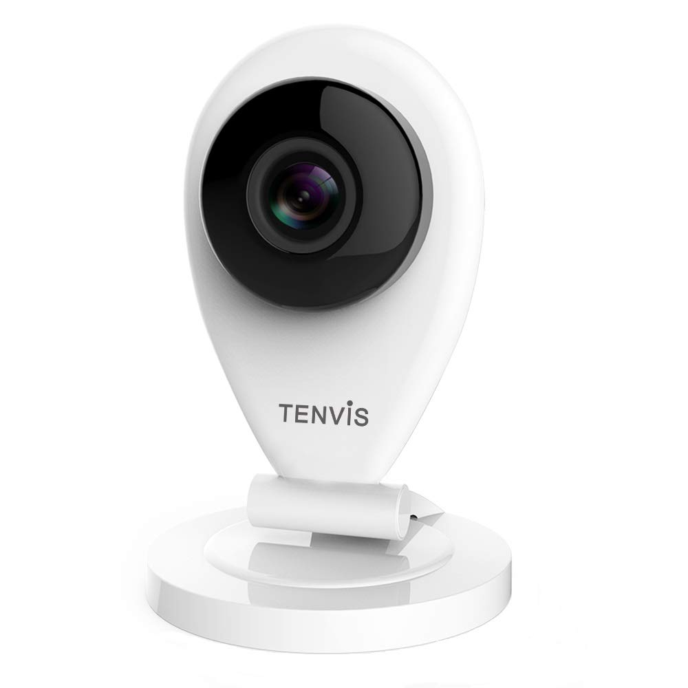 TENVIS Wireless IP Camera - Indoor Security Camera with Night Vision, Two-Way Audio, Motion Detection, Instant Alert, Home Surveillance System with SD Card Slot, 720P for Baby/Pet/Nanny Monitor