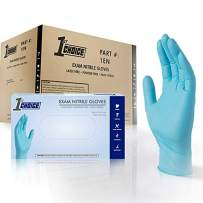 1st Choice Exam Blue Nitrile Gloves - Latex Free, Powder Free, Non-Sterile, 1ENL (Large - Case of 1000)