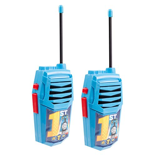 Thomas and Friends Night Action Molded Walkie Talkies for Kids WT2-01082 | Safe and Flexible Antenna, 1000ft Range, Easy-to-Use Power Switch, Belt Clip, Pack of 2, Stylish Appearance, 2-Pack