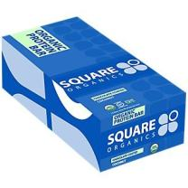Square Organics Vegan Protein Bars - Chocolate Coated Coconut - 11g Protein - Organic Protein Bars are Gluten Free, Dairy Free, Soy Free, Non-GMO - Perfect Protein Bar for Plant Based Diet - 12 Pack