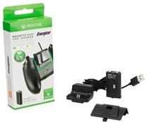PDP Energizer Xbox One Magnetic Play and Charge Charger with Rechargeable Battery Pack for One Wireless Controller Charging Kit, 048-030-NA