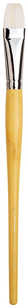 da Vinci Hog Bristle Series 7100 Maestro Artist Paint Brush, Bright Medium-Length Hand-Interlocked with Natural Polished Handle, Size 22