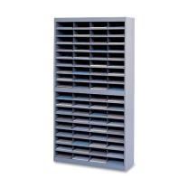 Safco Products E-Z Stor Literature Organizer, 72 Compartment, 9241GRR, Gray Powder Coat Finish, Commercial-Grade Steel Construction, Eco-Friendly