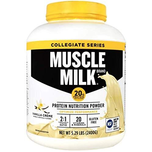 Muscle Milk Collegiate Protein Powder, Vanilla 'N Crème, 20g Protein, 5.29 Pound