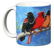 WILD COTTON Songbird Spectrum 11 Ounce Ceramic Coffee Mug (WC391M)