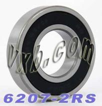 6207-2RS Bearing 35x72x17 Sealed Ball Bearings
