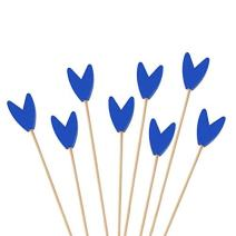 """BambooMN Premium Decorative Tulip End Cocktail Fruit Sandwich Picks Skewers for Catered Events, Holiday's, Restaurants or Buffets Party Supplies - Blue, 5.9"""", 1,000 pcs"""