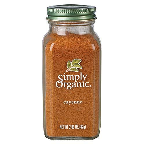 Simply Organic Cayenne Pepper, Certified Organic   2.89 oz   Pack of 6   Capsicum annuum L.