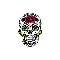 Scrapbook Customs Sugar Skull Rubber Stamp
