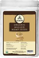 Naturevibe Botanicals Organic Hulled Hemp Seeds, 1lb   Non-GMO and Gluten Free   Rich source of Omega and Proteins.
