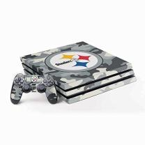 Skinit Decal Gaming Skin for PS4 Pro Console and Controller Bundle - Officially Licensed NFL Pittsburgh Steelers Camo Design