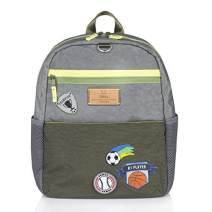 TWELVELITTLE BIG KID COURAGE BACKPACK OLIVE WITH SPORTS PATCHES