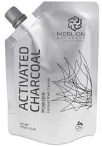 Activated Charcoal Powder by Merlion Naturals | Coconut Shell Charcoal | 100gm/ 3.5OZ | 100% Pure and Natural