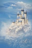 Baocicco 10x12ft Vinyl Celestial White Clouds Castle in The Sky Backdrop Photography Background Whimsical for Kids Infant Children Themed Backdrop Children Baby Adult Portraits Photo Studio