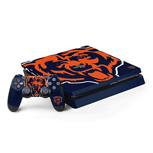 Skinit Decal Gaming Skin for PS4 Slim Bundle - Officially Licensed NFL Chicago Bears Large Logo Design