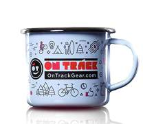 Outdoors Camping Enamel Coffee Tea OT Happy Mug 12 oz: Bring that Great Campsite Feeling Home