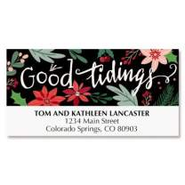 Comfort & Joy Christmas Address Labels - Set of 48, Large Self-Adhesive, Flat-Sheet Labels