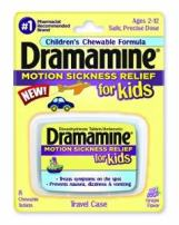 Dramamine Motion Sickness Relief for Kids, Grape Flavor, 8 Count (6 Pack)
