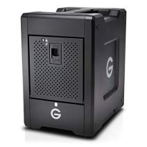 G-Technology 40TB G-Speed Shuttle Thunderbolt 3 with ev Series Bay Adapter – Transportable 4-Bay Raid Storage Solution – 0G10082-1