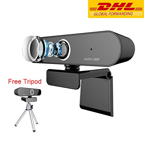 Computer Camera FUVISION,Web Camera 1080P,Auto Focus Webcam with Microphone for Laptop or Desktop and Web Cam for Live Streaming,Video Calling and Video Conference,360 Degree Rotatable Desktop Camera