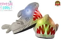 Funny Furry Fuzzy Fun Charatcter Animal Character Shark LED Light-Up Child Slipper for Boys, Girls, Toddlers, Kids, Unisex