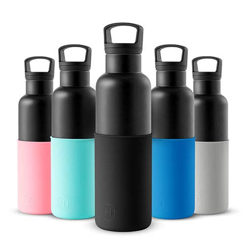 HYDY Vacuum Insulated Thermal Water Bottle - BPA Free Stainless Steel - Hold Ice Longer - Keep Drinks Hot - Rust Proof - Modern Stylish Flask in 2 Sizes & 20+ Colors