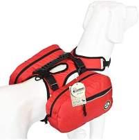 Dog Saddlebag Backpack Adjustable Tripper Hound Travel Backpack Bag Rucksack for Medium & Large Dog Camping Hiking, Detachable Pack Instantly Turns into Harness