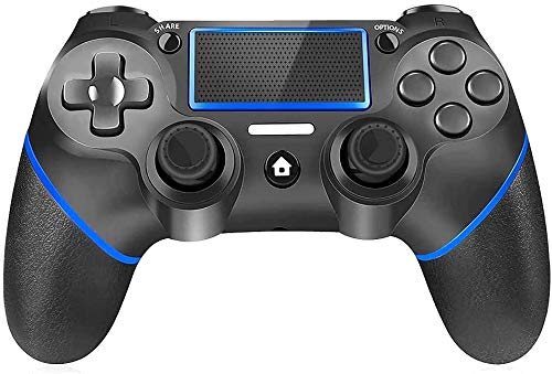 PUNWEOS Wireless Controller for Playstation 4, DualShock 4 Controller Touch Panel Gamepad for Playstation 4/Pro/Slim/PC with Dual Vibration, Audio Function, Anti-Slip Grip, Mini LED Indicator