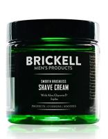 Brickell Men's Smooth Brushless Shave Cream for Men, Natural and Organic Smooth Shaving Lotion to Fight Nicks, Cuts and Razor Burn, 5 Ounce, Unscented