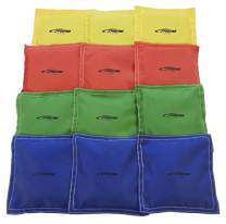 Sportime Heavy Duty Nylon Bean Bags - 5 x 5 - Set of 12 - Assorted Colors