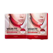 Daily Wear Fit Gold Edition Mask [Ruby Gold] 4pcs, V Line Mask,Lifting Mask, Firming Mask,Tight Face