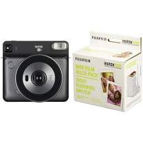 Fujifilm Instax Square SQ6 - Instant Film Camera - Graphite Grey with Mini Instant Film Value Pack - (3 Twin Packs, 60 Total Pictures)