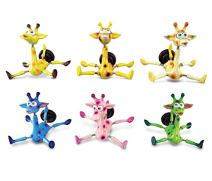 Puzzled Giraffe Refrigerator Bobble Magnet (Set of 6)