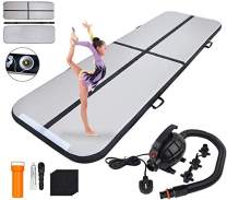 Polar Aurora 9.84ft/13.12ft/16.40ft/19.68ft Air Track Inflatable Tumbling Mat for Gymnastics with Electric Air Pump for Practice Gymnastics