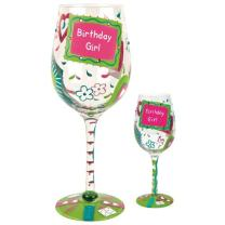 Enesco GLS19-5511B by Lolita, Giant Wine Glass, Birthday Girl