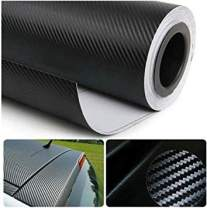 "DIYAH 3D Black Carbon Fiber Film Twill Weave Vinyl Sheet Roll Wrap DIY Decals (72"" X 60"" / 6FT X 5FT)"