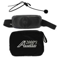 Audio2000s Wp-6202b Black Waist-band Pa System with Battery Powered Amplifier