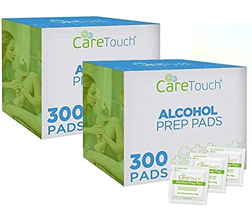 Care Touch Sterile Alcohol Prep Pads Medium 2-Ply - Alcohol Wipes 600