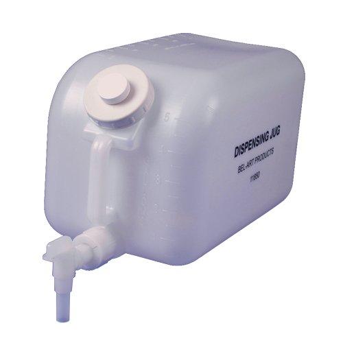 Bel-Art Polyethylene Dispensing Jug; 20 Liters (5 Gallons), Polyethylene Spigot (H11850-0000)
