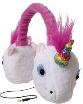 ReTrak Retractable Animalz Tangle-Free, Volume Limiting (85 dB) Over Ear Headphones for Kids, Rainbow Unicorn (ETAUDFUNIC)