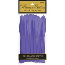 Premium Heavy Weight Plastic Knives | New Purple | Pack of 20| Party Supply