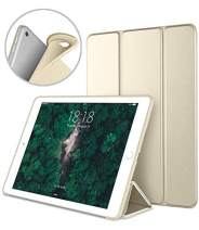 DTTO iPad Air 2 Case (2014 Released), Ultra Slim Lightweight Smart Case Trifold Stand with Flexible Soft TPU Back Cover for Apple iPad Air 2 (Model A1566/A1567), Champagne Gold