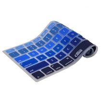 Sale Casiii Ultrathin MacBook Pro Keyboard Cover for MacBook Pro, MacBook Air, MacBook Wireless Keyboard and iMac, 13 15 and 17 Inch, with/Without Retina, Engineer-Quality Silicone (Blue Ombre)