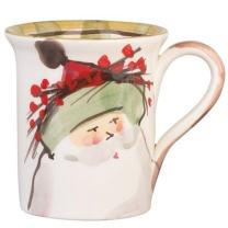 Vietri Old St. Nick Mug - Green Hat