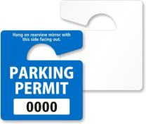 """ToughTag Small Rearview Mirror Hang Tag, Heavy Duty Plastic Permit Tag, 50 Tags/Pack, 2.75"""" x 3"""""""