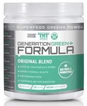 Generation Greens Powder | Organic Superfood Powder with Spirulina, Chlorella, Wheat Grass | 60 Powerful Super Foods, Probiotics, Enzymes | GMO Free (15 Serving, Original)