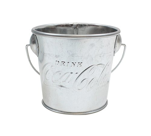 "Tablecraft CCGP33 Galvanized Pail with Handle, 3"" dia, Silver"