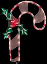 """Northlight Lighted Candy Cane Christmas Window Silhouette Decoration, 18"""""""