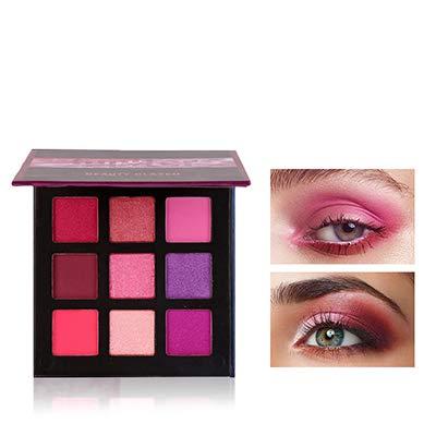 Beauty Glazed New Fashion Cosmetics 9 Colors Shimmer Eyeshadow Cream Matte Glitter Eye Shadow Palette Natural Waterproof Long Lasting Pigmented Eyeshadow Powder # 05 Mysterious Purple